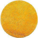 Brandsseller Tapis de Bain matelassé Rond Ø 60 cm, Polyester, Orange