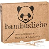 ✮ bambusliebe ✮ 3er Pack Bambus Wattestäbchen ♻ für Kinder & Erwachsene ♻ Bambusstäbchen & flauschige Baumwolle ♻ Nachhaltig ✅ Vegan ✅ Kompostierbar ✅