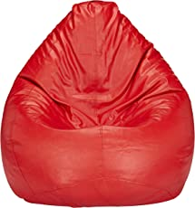 Amazon Brand - Solimo XXXL Bean Bag Cover Without Beans (Red)