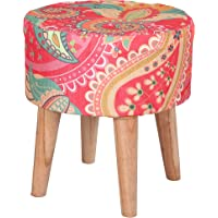 DEVICE OF R Ottoman Pouffes Stools for Living Room Pouffe Seats Foam Cushion Stool for Foot Rest Table 4 Wooden Leg…