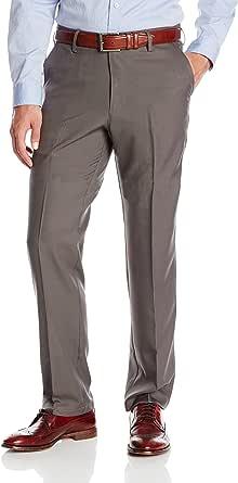 Haggar Men's Big-Tall Performance Small Neat Straight-Fit Plain-Front Slack