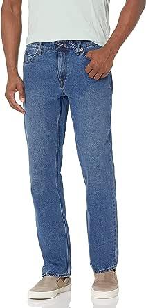 Volcom Men's Solver Denim Straight Jeans