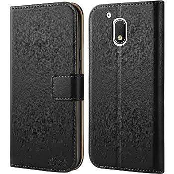 Coque Moto G4 Play, HOOMIL Housse en Cuir Premium Flip Case Portefeuille Etui Coque pour Motorola Moto G4 Play (H3030, Noir)