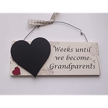 Baby Weeks Until Baby Countdown Frame ~ Love Mommy & Daddy Low Price