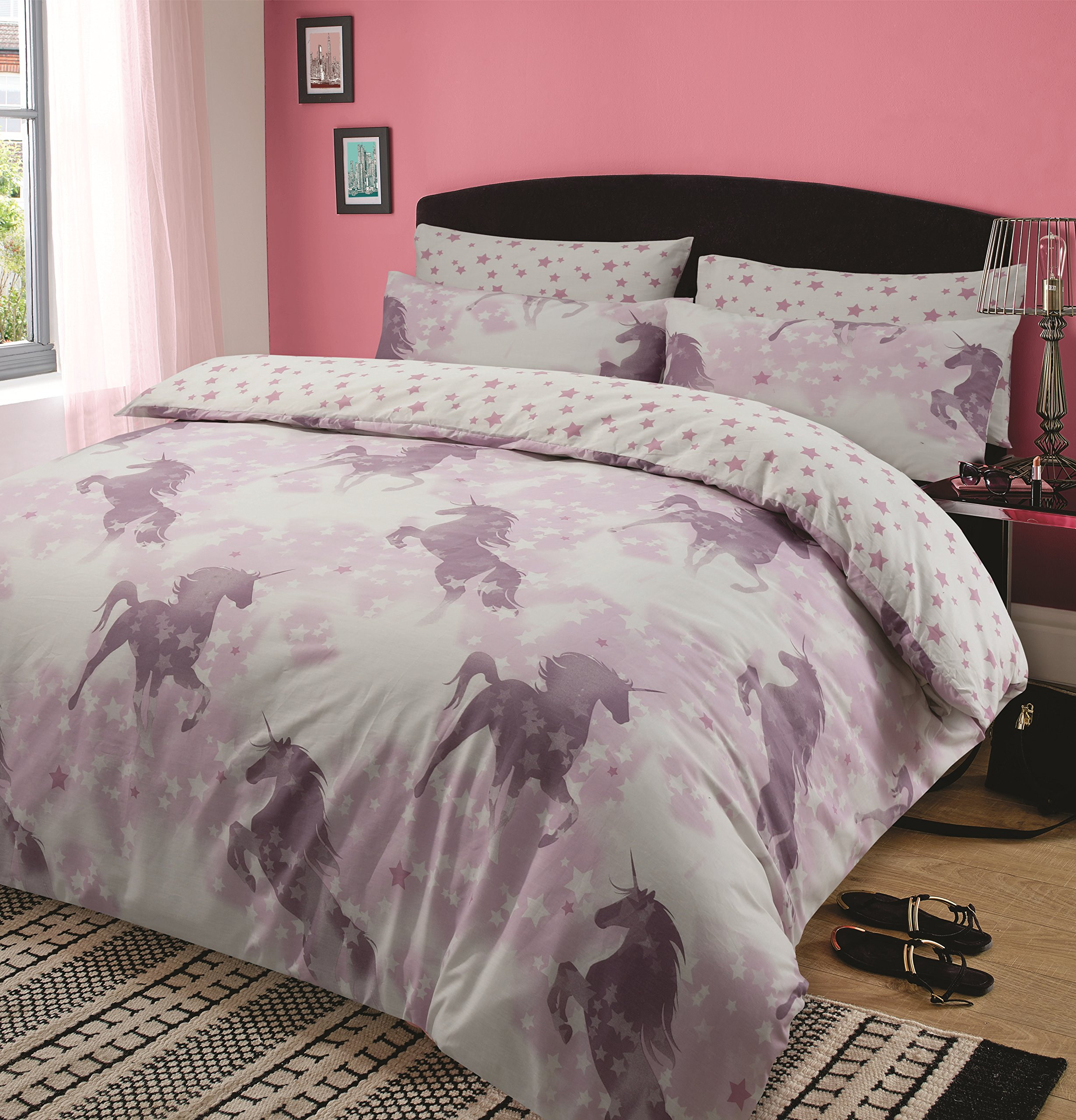 sets cover various in sizes girls curtain of and gopelling with pink horse bedding matching curtains net full gopellingnet bedroom new duvet show size