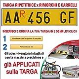 TopQuality Targa Ripetitrice in Alluminio per rimorchi, carrelli appendici con Lettere e Numeri già applicati con…