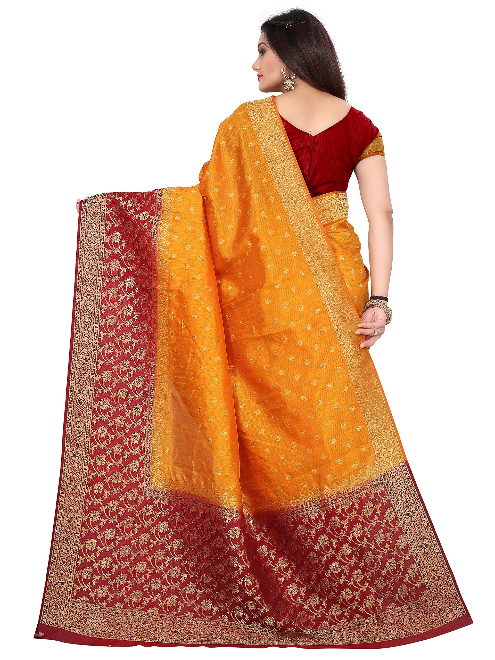 bb00f9d58a arars kanjivaram kanchipuram silk pattu saree (263 RA MUSTARD ...
