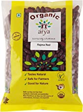 Arya Farm 100% Certified Organic Red Rajma Beans, 500g (Pulses/Dal / Lentil/Kidney Beans/Chemicals Free/Pesticides Free/No Preservatives)