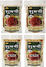 Shubhashree Peanut Shenga Chutney Plain and Garli Combo of 2 - 100g - Pack-of 4