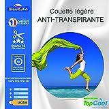 Bleu Calin Couette légère Anti transpirante 200 GR/m² (Couette légère Anti transpirante 200 GR/m² Blanche, 240 x 260 cm pour