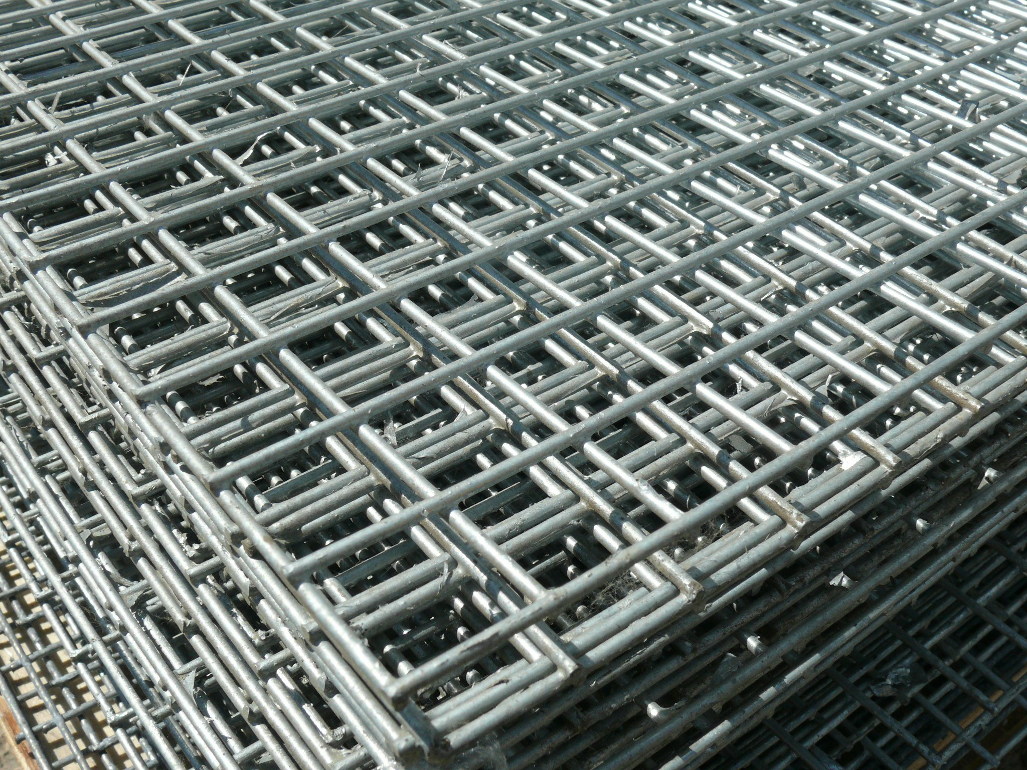 Welded Wire Mesh Panels 1.8x0.9m 6ftx3ft, Galvanise Steel 4 Pack, 12 ...
