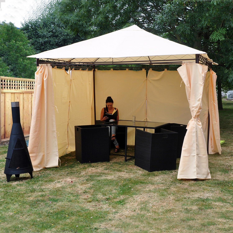 Kingfisher FSGHD Heavy Duty Garden Gazebo With Side Curtains