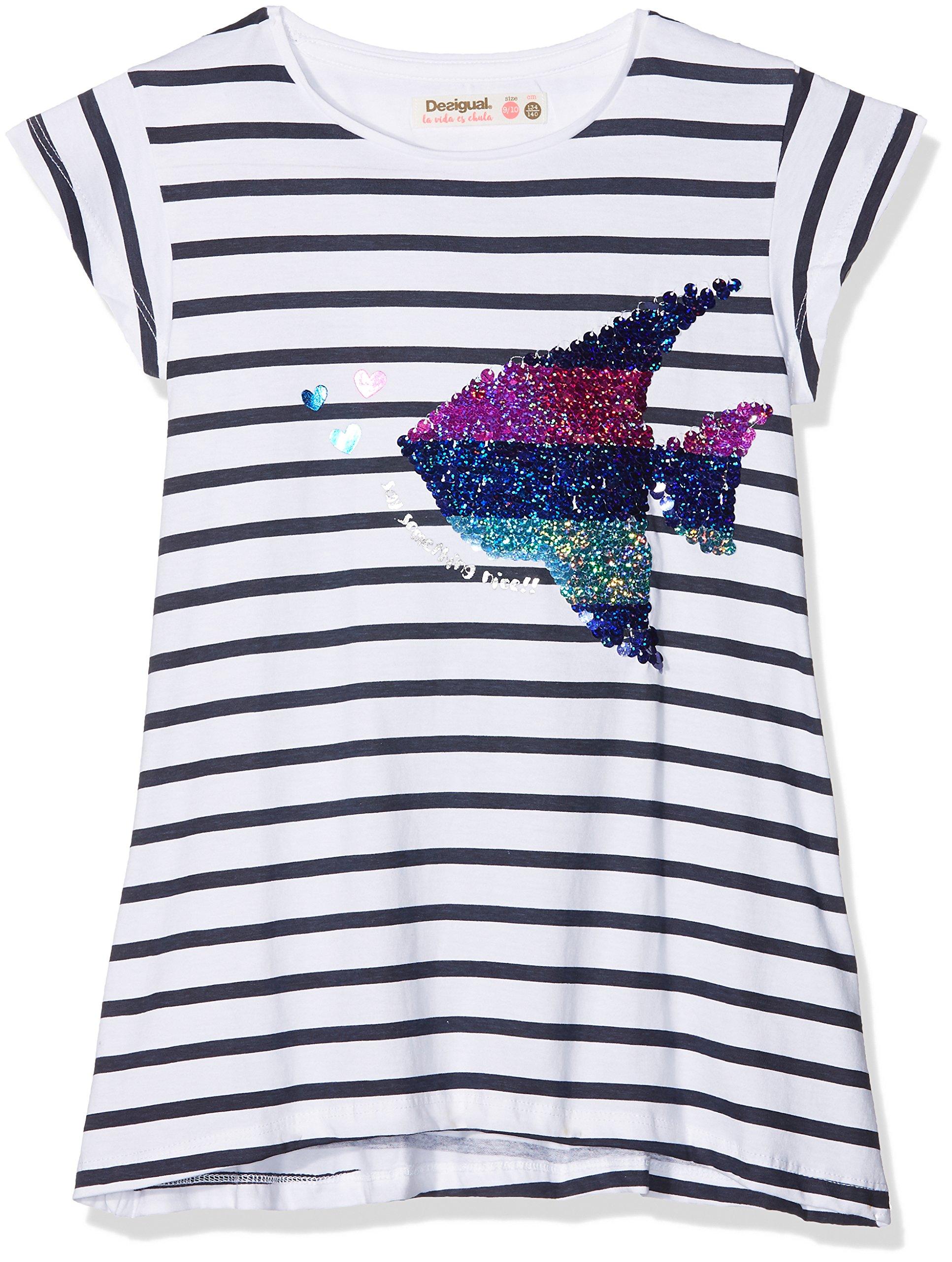 Desigual TS_Saskatchewan Camiseta de Manga Larga para Niñas
