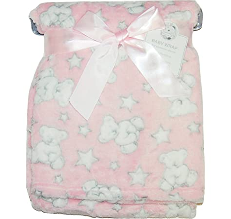 Pink Turtle Shell Newborn Luxurious Soft Baby Blanket Crib Pram Boys Girls Infant Cotton Fleece Fur Back Cot Bed Swaddle Pram Shawl Wrap Toddler Snuggle E/&A Distribution Limited