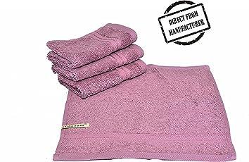 Avira Home Plush Egyptian Face Towel(Set of 4), 650 GSM, (Lilac)