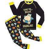 Pokèmon Pijama Niño Diseño con Snorlax | Pijama Infantil Invierno | Pijama Manga Larga Niño De Pikachu | Pijama para Niños De
