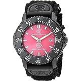 ساعة سميث آند ويسون للرجال SWW-455F فاير فايترز بمينا أحمر وسوار أسود