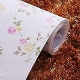 Amazon Brand - Solimo PVC Self-Adhesive WallPaper, Roses, 45 x 500 cm