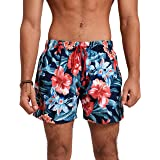 شورت سباحة رجالي مشجر متعدد الالوان برباط من ريد دوت، متوسط الطول، مقاس XL