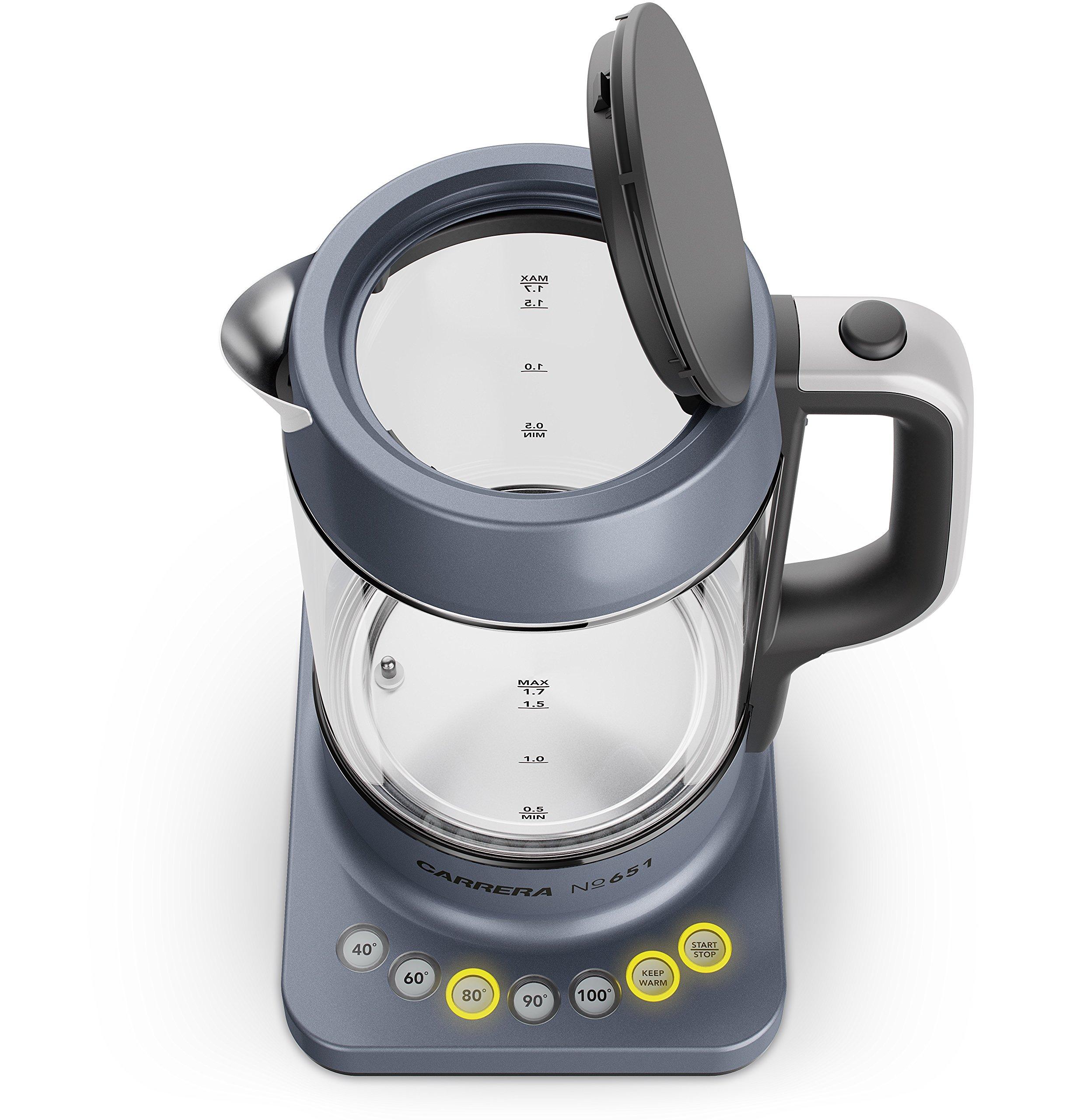 CARRERA-Glas-Wasserkocher-No-651-mit-Temperatureinstellung-und-Warmhaltefunktion-BPA-frei-fr-Tee-und-Babynahrung
