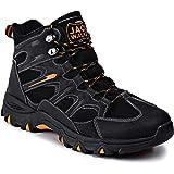 Jack Walker Mens Walking Waterproof Leather Boots Lightweight Vent Breathable Hiking Trekking Shoes JW7255