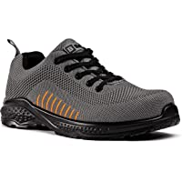 Black Hammer Mens Safety Trainers flynit Non Metal Free S1P SRC Ultra Lightweight Composite Toe Cap Kevlar Midsole Non…