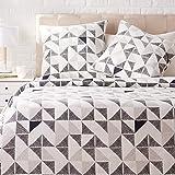 Amazon Basics Parure de lit avec housse de couette en satin, 260 x 240 cm / 65 x 65 cm x 2, Fusion diamant