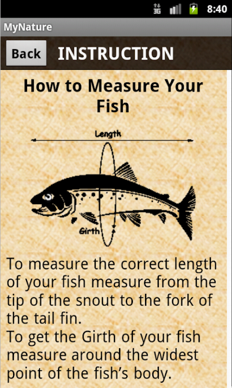 Mynature fish weight calculator appstore for Fish weight calculator