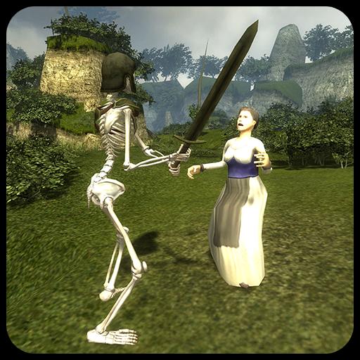 Skeleton Knight Simulation 3D