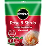 Miracle-Gro Rose and Shrub Fast Acting Granules, Plant Food 750 g, Red
