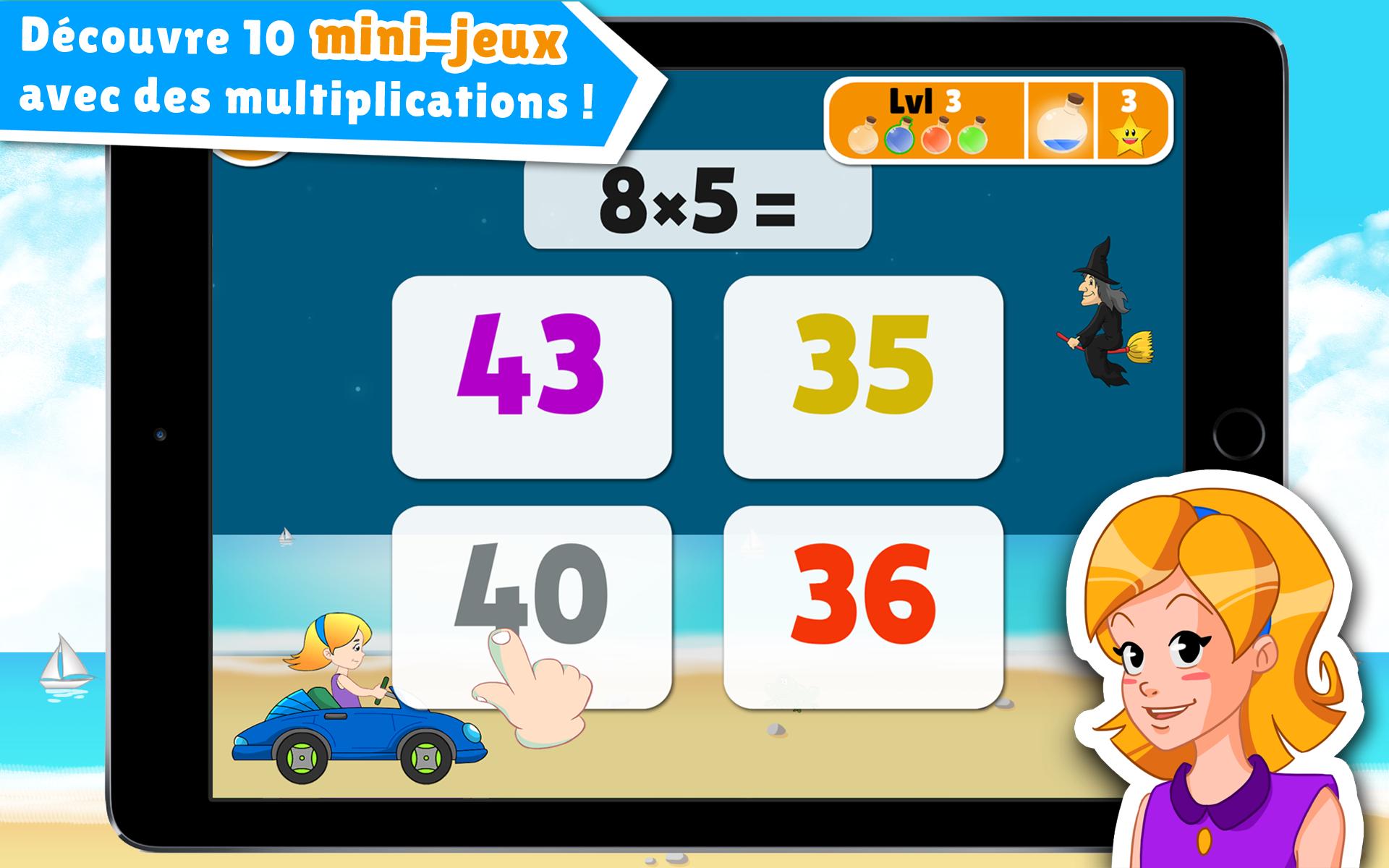 Apprendre les tables de multiplication en jouant l 39 cole for Apprendre tables de multiplication en jouant