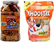 Choostix Combo of Chicken Biskies, 500g & Chicken Treat, 450g