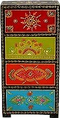 Khimat Art Wooden Four Drawers Decorative Storage Unit (24 cm x 24 cm x 30 cm)