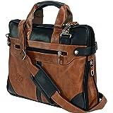 Storite PU Leather Laptop Briefcase Messenger Shoulder Sling Office Business Travel Bag up to 14 Inch for Men & Women – (40 x