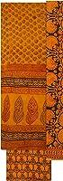 Mrignayanee (M.P. Govt. Emporium) Bagh Handloom Unstitched Dress Material (Yellow)