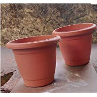 Plastic Container Pots, 10inch, Set of 2