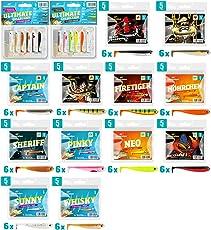 Lieblingsköder Gummiköder 5cm - 6 Gummifische Zum Spinnangeln auf Barsche & Forellen, Barschköder Zum Spinnfischen, Gummishads