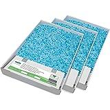 PetSafe - Bac de Rechange Litière Absorbante et Anti-Odeur pour Chat Scoopfree Cristal Bleu - 3 Paquets