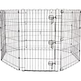 AmazonBasics Foldable Metal Pet Exercise and Playpen With Door, 36""