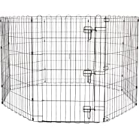 """AmazonBasics Foldable Metal Pet Exercise and Playpen With Door, 36"""""""