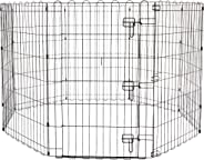 AmazonBasics Foldable Metal Pet Exercise and Playpen with Door, 36