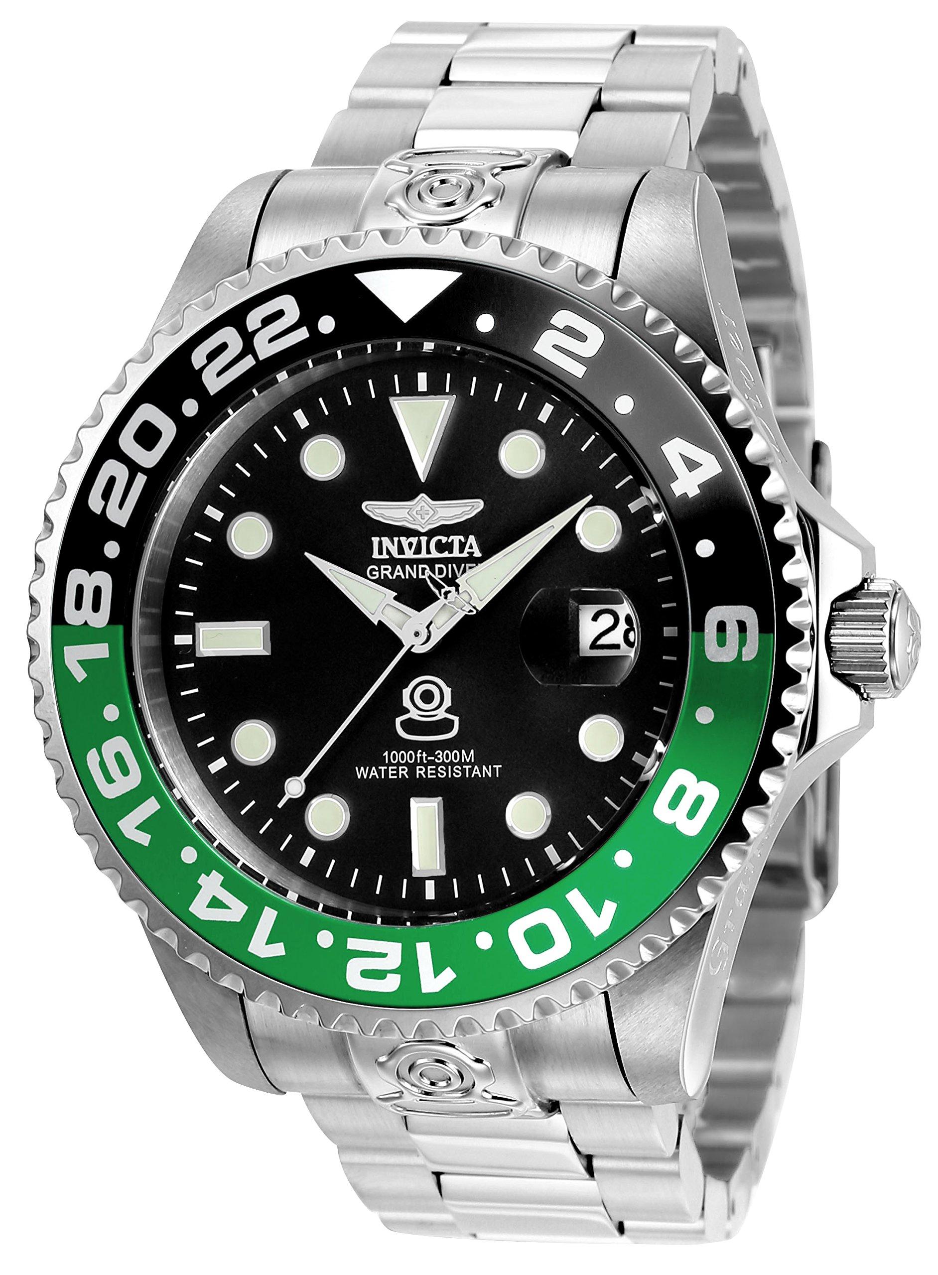 Invicta 21866 Pro Diver Reloj para Hombre acero inoxidable Automático Esfera negro
