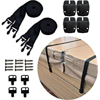 Happy Hot Tubs Hot Tub Cover Storm Straps PAIR Spa Safety Secure Fits Most Spas Locks Wind Locking