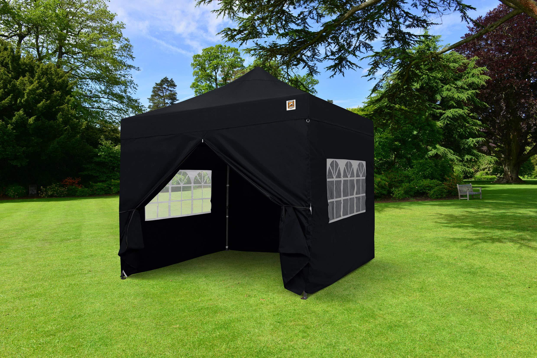 Gorilla Gazebo ® Pop Up 3x3m Heavy Duty Waterproof Commercial Grade Market Stall 4 Side Panels and Wheeled Carrybag… 3