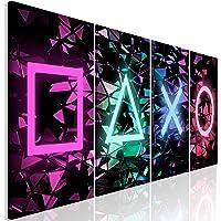 murando - Bilder für Gamers Spielkonsole 160x60 cm Vlies Leinwandbild 4 Teilig Kunstdruck modern Wandbilder XXL…