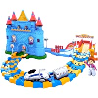 Toyshine Automatic Castle Train Tracker Set Battery Operated Train Track