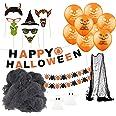 Halloween decoratie horror set met meer dan 30 onderdelen voor huis, tafel & tuin
