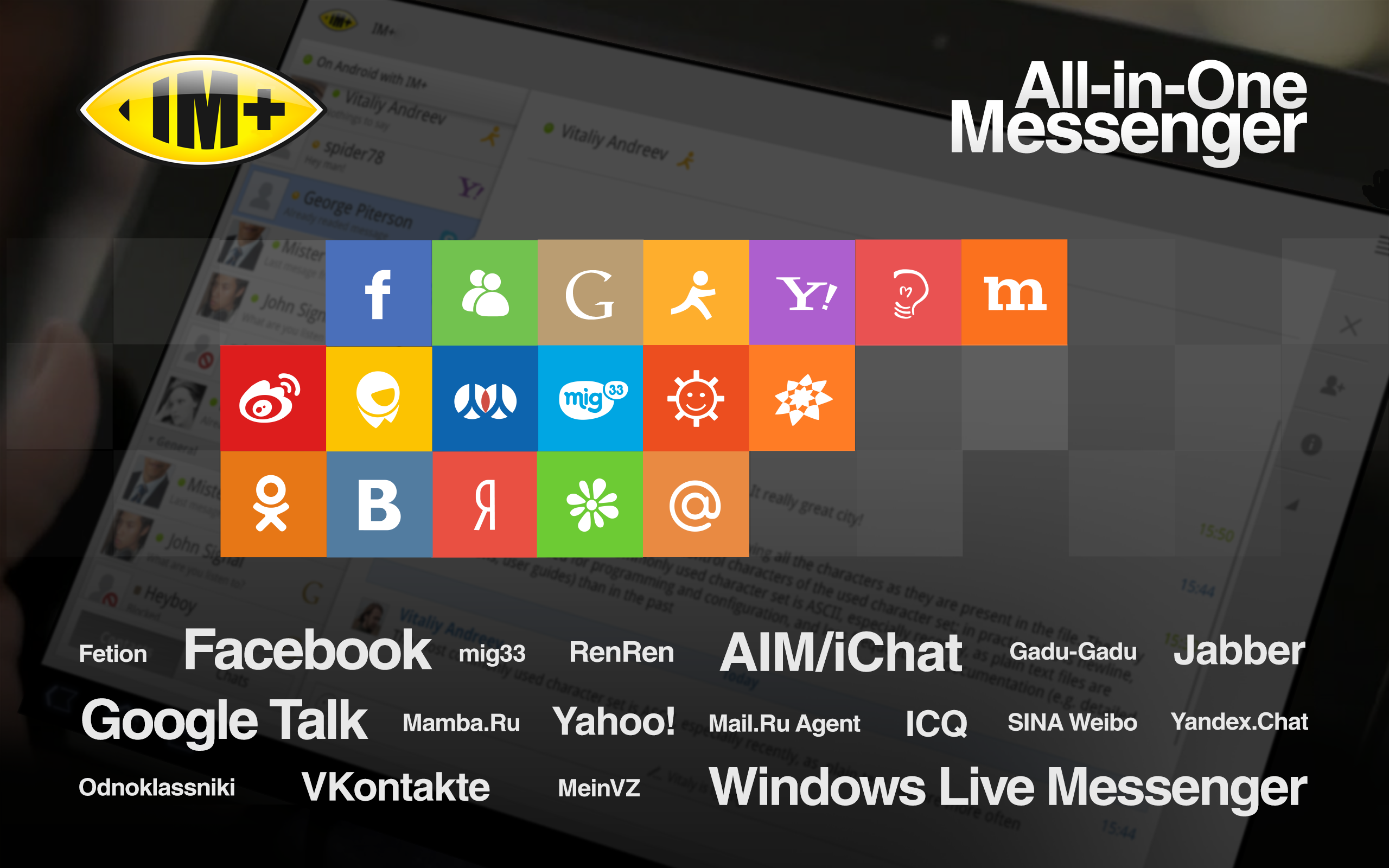 IM+ All-in-One Messenger: Amazon co uk: Appstore for Android