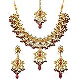 Touchstone Indian Bollywood Gorgeous Intricate Workmanship Mughal White Colorful Rhinestone Crystal Wedding Designer Jewelry