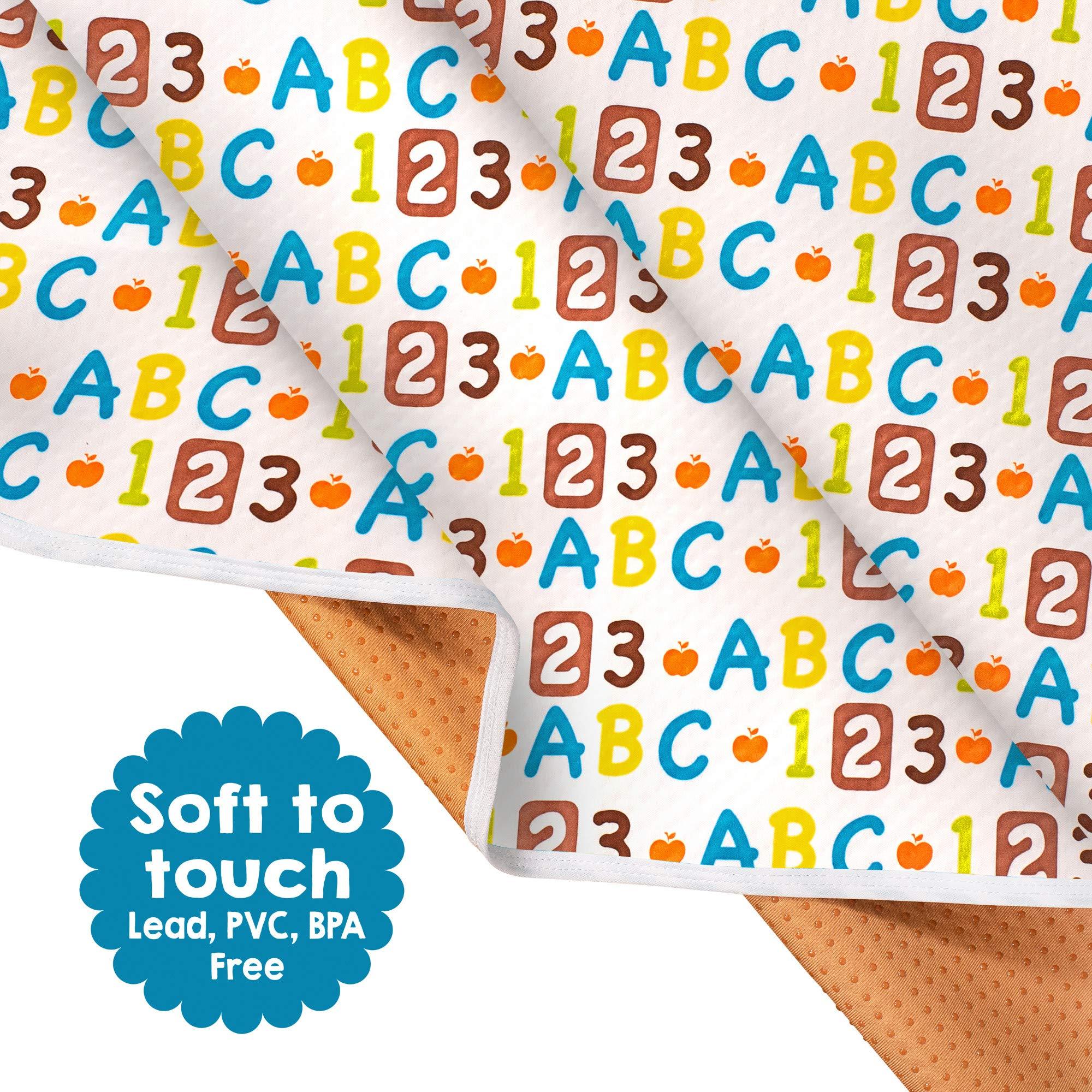 Non Slip Splash Mat by TotsAhoy!® Large Under Highchair Baby Weaning Floor Prot